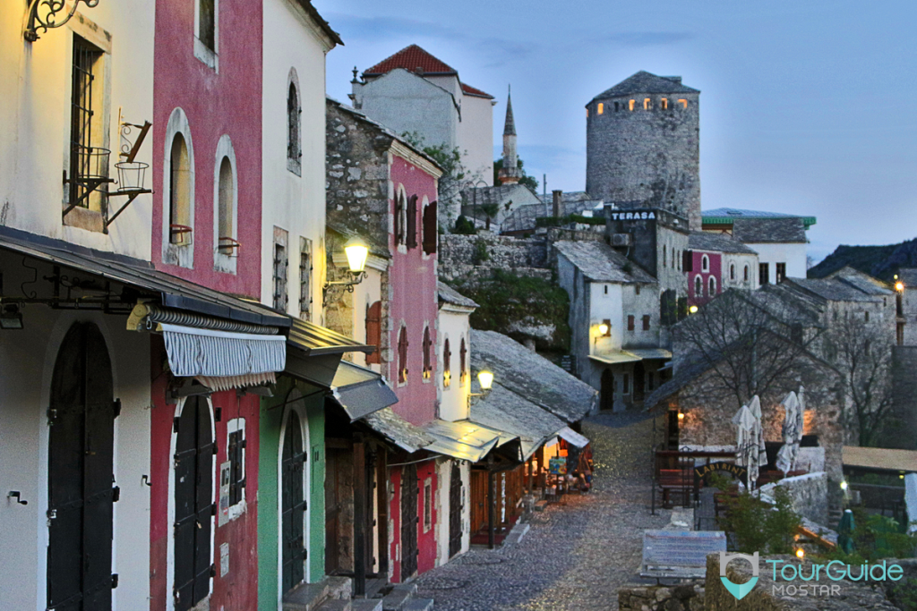 sunset-at-streets-of-old-town-in-mostar