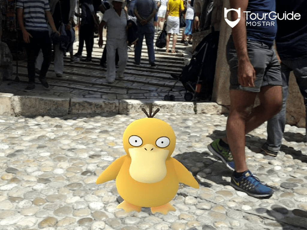 The Old Bridge in Mostar is a popular hangour for Pokemon